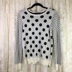 Ann Taylor Polka Dot Crewneck Sweater